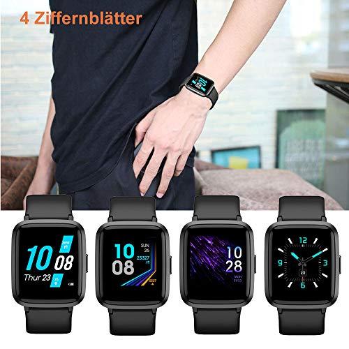 2781 8 yamay smartwatchfitness armba | YAMAY Smartwatch,Fitness Armbanduhr mit Blutdruck Messgeräte,Pulsoximeter,Pulsuhren Fitness Uhr Wasserdicht IP68 Fitness Tracker Schrittzähler Uhr für Damen Herren Smart Watch für iOS Android Handy