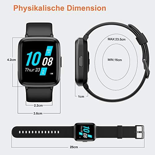 2781 9 yamay smartwatchfitness armba | YAMAY Smartwatch,Fitness Armbanduhr mit Blutdruck Messgeräte,Pulsoximeter,Pulsuhren Fitness Uhr Wasserdicht IP68 Fitness Tracker Schrittzähler Uhr für Damen Herren Smart Watch für iOS Android Handy
