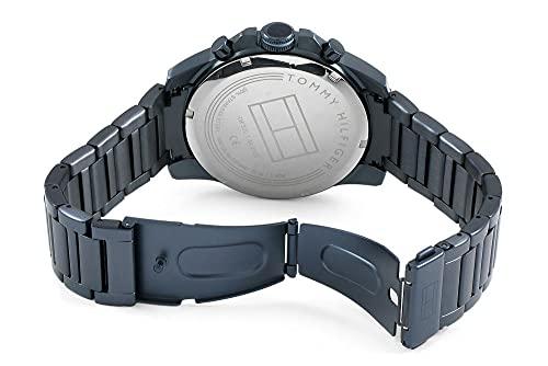 2787 4 tommy hilfiger herren multi zi | Tommy Hilfiger Herren Multi Zifferblatt Quarz Uhr mit Edelstahl Armband 1791560