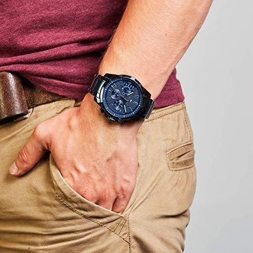 2787 5 tommy hilfiger herren multi zi | Tommy Hilfiger Herren Multi Zifferblatt Quarz Uhr mit Edelstahl Armband 1791560