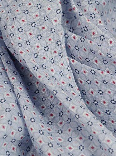 2807 2 zwillingsherz seiden tuch dame   Zwillingsherz Seiden-Tuch Damen dezentes Muster - Made in Italy - Eleganter Sommer-Schal für Frauen - Hochwertiges Seidentuch/Seidenschal - Halstuch und Chiffon-Stola stilvolles Muster hellblau
