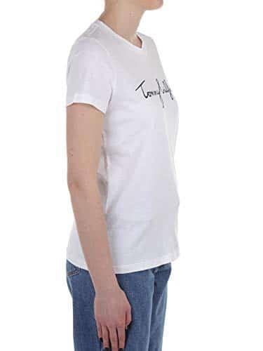 2968 7 tommy hilfiger damen heritage | Tommy Hilfiger Damen HERITAGE CREW NECK GRAPHIC TEE Regular Fit T-Shirt, Weiß (Classic White 100), Large ( Herstellergröße: L)