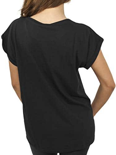2971 2 urban classics damen ladies | Urban Classics Damen Ladies Extended Shoulder Tee T-Shirt, black, L