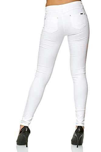 3010 4 elara damen stretch hose push   Elara Damen Stretch Hose Push Up Jeans Gummizug Chunkyrayan Y5110 White 38 (M)