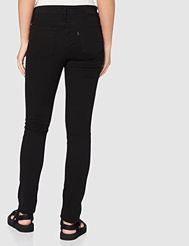 3013 4 levis damen 711 skinny jeans   Levi's Damen 711 Skinny Jeans, Schwarz (Black Sheen 0052), 30W / 32L