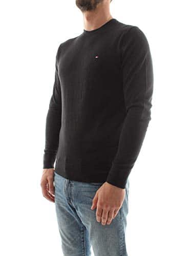 3276 2 tommy hilfiger herren core cot | Tommy Hilfiger Herren CORE Cotton-Silk CNECK Pullover, Schwarz (Flag Black 032), XX-Large