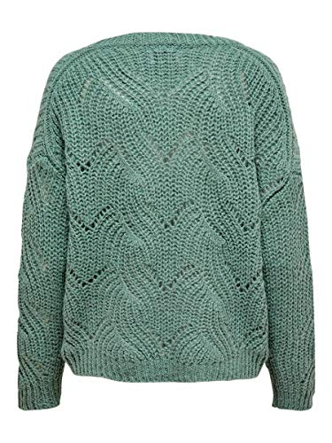 3324 2 only female strickpullover det | ONLY Female Strickpullover Detailreicher MChinois Green