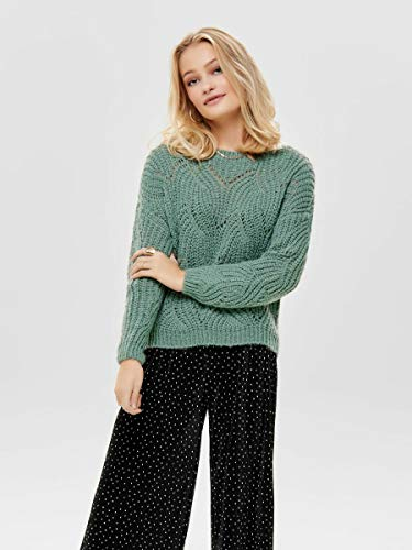 3324 3 only female strickpullover det | ONLY Female Strickpullover Detailreicher MChinois Green
