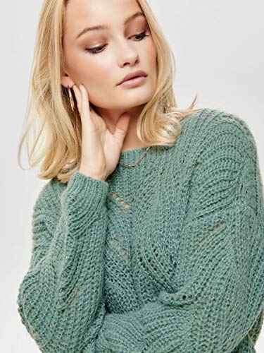 3324 6 only female strickpullover det | ONLY Female Strickpullover Detailreicher MChinois Green