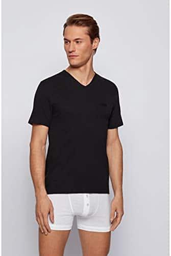3441 4 boss herren t shirt vn 3p co d   BOSS Herren T-Shirt VN 3P CO Dreier-Pack T-Shirts aus Baumwolle mit V-Ausschnitt