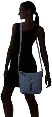3656 6 tom tailor damen taschen gel | TOM TAILOR Damen Taschen & Geldbörsen Umhängetasche IMERI dark blue cognac,OneSize,C050,6000