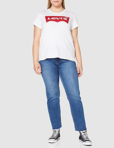 3954 2 levis damen t shirt the perf | Levi's Damen T-Shirt, The Perfect Tee, Weiß (Batwing White Graphic 53), Gr. Small
