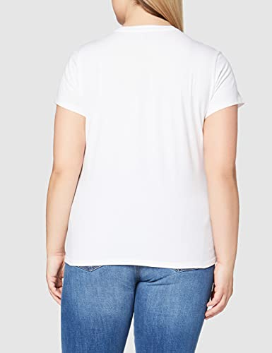 3954 4 levis damen t shirt the perf | Levi's Damen T-Shirt, The Perfect Tee, Weiß (Batwing White Graphic 53), Gr. Small
