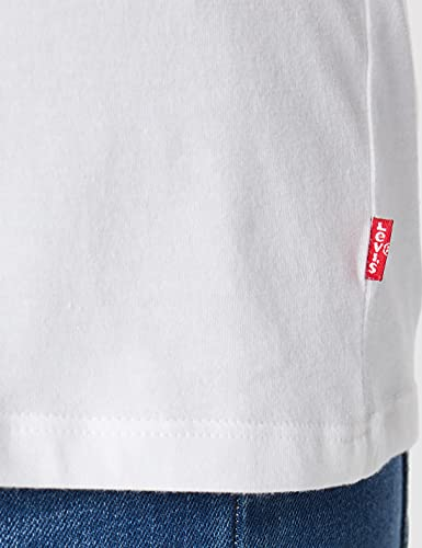 3954 5 levis damen t shirt the perf | Levi's Damen T-Shirt, The Perfect Tee, Weiß (Batwing White Graphic 53), Gr. Small