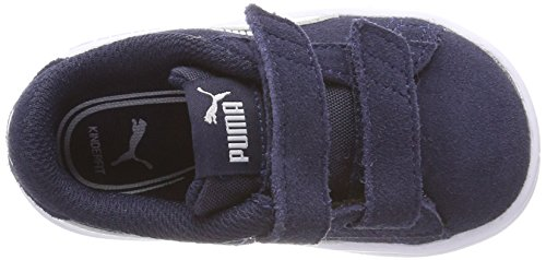 4096 5 puma unisex kinder smash v2 sd | PUMA Unisex Kinder Smash v2 SD V PS Sneaker, Blau (Peacoat White), 33 EU