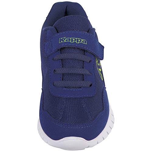 4114 3 kappa unisex kinder follow sne | Kappa Unisex-Kinder Follow Sneaker, Blue/Lime, 30 EU