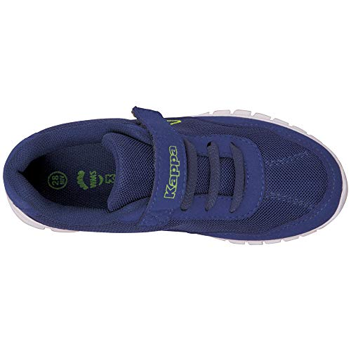4114 5 kappa unisex kinder follow sne | Kappa Unisex-Kinder Follow Sneaker, Blue/Lime, 30 EU