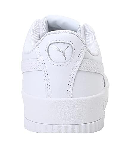 4213 3 puma damen carina l sneaker w   PUMA Damen Carina L Sneaker, Weiß White White Silver, 36 EU