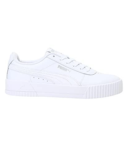 4213 6 puma damen carina l sneaker w   PUMA Damen Carina L Sneaker, Weiß White White Silver, 36 EU