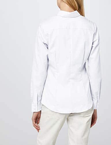 9149 4 seidensticker damen hemdbluse   Seidensticker Damen Hemdbluse Langarm, Weiß (Weiß 01), 38