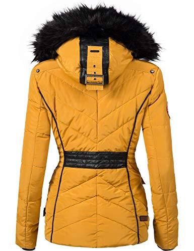 10342 2 marikoo damen winter jacke ste | Marikoo Damen Winter Jacke Steppjacke Vanilla Gelb Gr. S