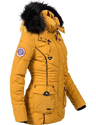 10342 3 marikoo damen winter jacke ste | Marikoo Damen Winter Jacke Steppjacke Vanilla Gelb Gr. S