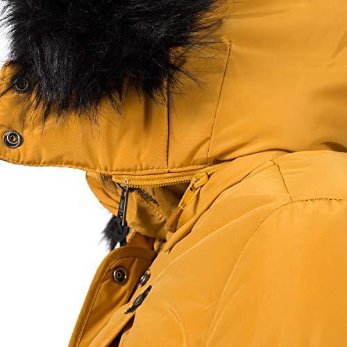 10342 6 marikoo damen winter jacke ste | Marikoo Damen Winter Jacke Steppjacke Vanilla Gelb Gr. S
