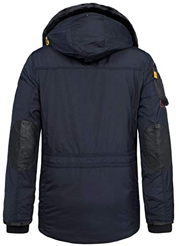 10521 2 geographical norway herren win | Geographical Norway Herren Winterjacke Parka Acore gefütterte Kapuze Navy M