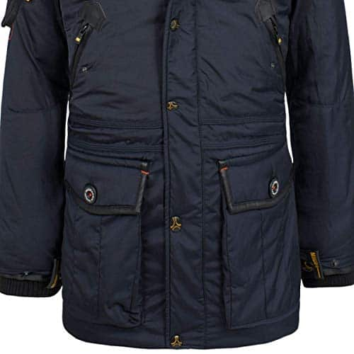 10521 4 geographical norway herren win | Geographical Norway Herren Winterjacke Parka Acore gefütterte Kapuze Navy M