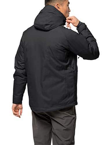 10655 2 jack wolfskin herren troposphe   Jack Wolfskin Herren Troposphere Jacket M Wetterschutzjacke, black, L