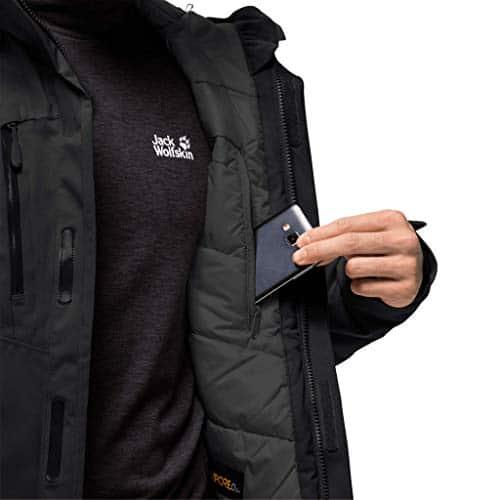 10655 5 jack wolfskin herren troposphe   Jack Wolfskin Herren Troposphere Jacket M Wetterschutzjacke, black, L