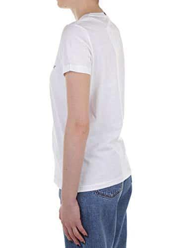 2968 3 tommy hilfiger damen heritage | Tommy Hilfiger Damen HERITAGE CREW NECK GRAPHIC TEE Regular Fit T-Shirt, Weiß (Classic White 100), Large ( Herstellergröße: L)