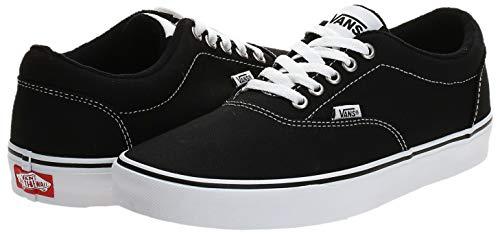 2070 8 vans herren doheny sneaker sc | Vans Herren Doheny Sneaker, Schwarz ((Canvas) Black/White 187), 42 EU
