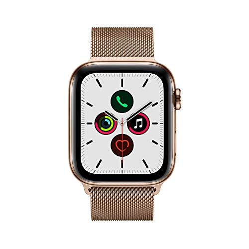 9236 2 apple watch series 5 gps | Apple Watch Series 5 (GPS + Cellular, 44 mm) Edelstahlgehäuse Gold - Milanaise Armband Gold