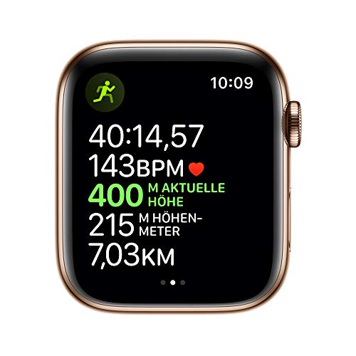 9236 4 apple watch series 5 gps | Apple Watch Series 5 (GPS + Cellular, 44 mm) Edelstahlgehäuse Gold - Milanaise Armband Gold