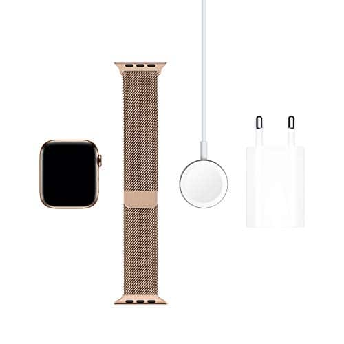 9236 6 apple watch series 5 gps | Apple Watch Series 5 (GPS + Cellular, 44 mm) Edelstahlgehäuse Gold - Milanaise Armband Gold