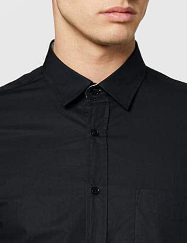 12015 3 mexx herren 53523 freizeithemd   Mexx Herren 53523 Freizeithemd, Schwarz (Black 300002), 41 (Herstellergröße: M)