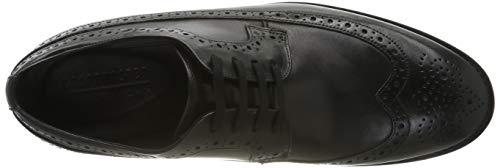 12196 5 clarks herren ronnie limit bro | Clarks Herren Ronnie Limit Brogues, Schwarz (Black Leather), 41.5 EU