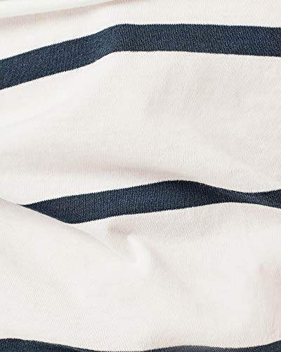 12481 5 g star raw womens core eyben s | G-STAR RAW Womens Core Eyben Slim T-Shirt, Milk/Vintage Navy Stripe C483-C088, XL