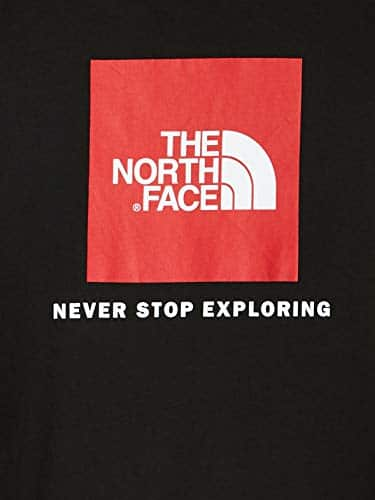 12597 4 the north face herren t shirt   The North Face Herren T-Shirt M S/S Red Box,schwarz (Schwarz-Tnf Black), L