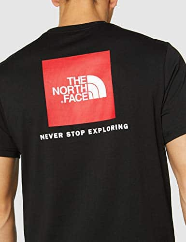 12597 7 the north face herren t shirt   The North Face Herren T-Shirt M S/S Red Box,schwarz (Schwarz-Tnf Black), L