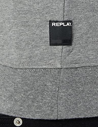 13454 4 replay herren m3436b 000 21842 | Replay Herren M3436B.000.21842 Sweatshirt, Grau (Melange Grey M14), Medium