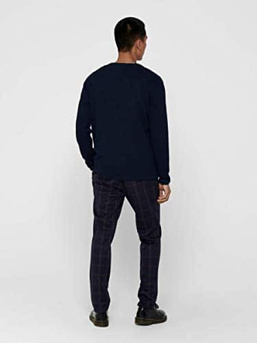 13555 4 only sons male strickpullove | ONLY & SONS Male Strickpullover Struktur LDress Blues