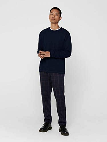 13555 5 only sons male strickpullove | ONLY & SONS Male Strickpullover Struktur LDress Blues