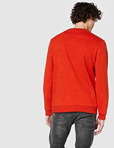 14057 4 boss herren wash sweatshirt o | BOSS Herren Wash Sweatshirt, Orange (Dark Orange 805), Large (Herstellergröße: L)