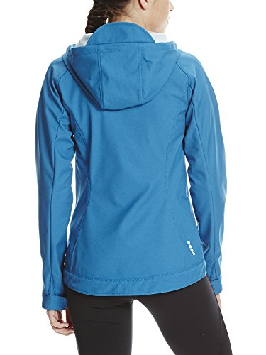 14163 2 bench damen slim fit soft shel | Bench Damen Slim FIT Soft Shell Jacke, Blau (Mykonos Blue BL192), 40 (Herstellergröße: L)