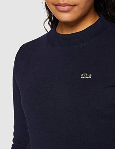 14281 3 lacoste damen sf2133 pullover | Lacoste Damen SF2133 Pullover, Marine 166, 42