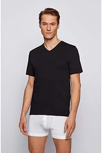 3441 6 boss herren t shirt vn 3p co d   BOSS Herren T-Shirt VN 3P CO Dreier-Pack T-Shirts aus Baumwolle mit V-Ausschnitt