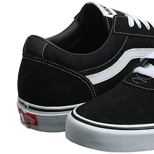2073 3 vans herren ward suede canvas   Vans Herren Ward Suede/Canvas Sneaker, Schwarz ((Suede/Canvas- Black/White), 47 EU