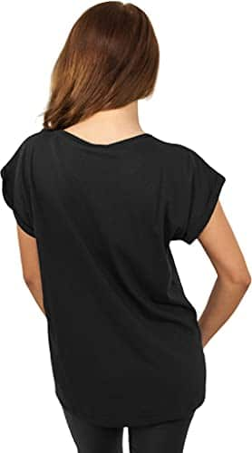 2971 2 urban classics damen ladies   Urban Classics Damen Ladies Extended Shoulder Tee T-Shirt, black, L